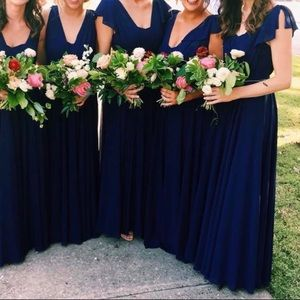 Navy Floor-Length Dress
